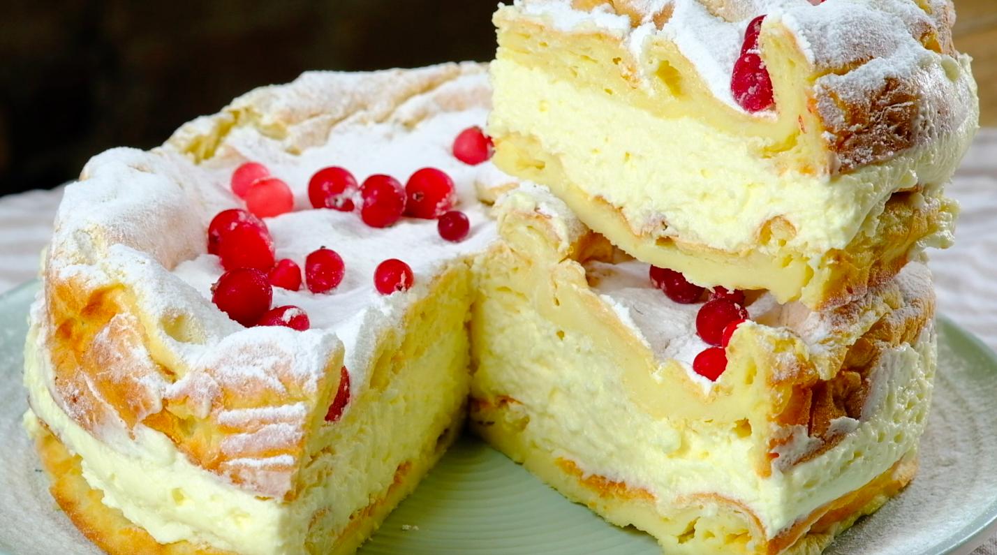Торт из заварного теста рецепт с фото