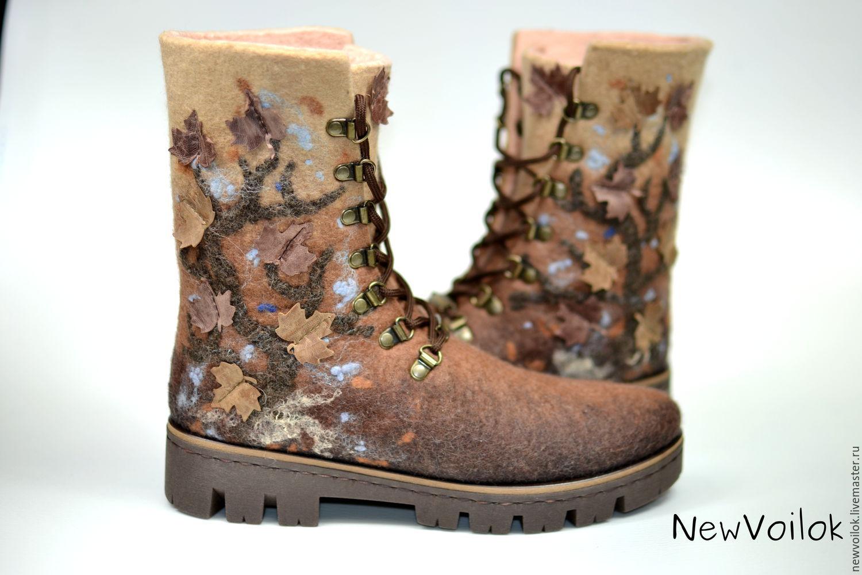 b38a8479b Купить Женские ботинки 'Дикое дерево' валяные в интернет магазине на ...