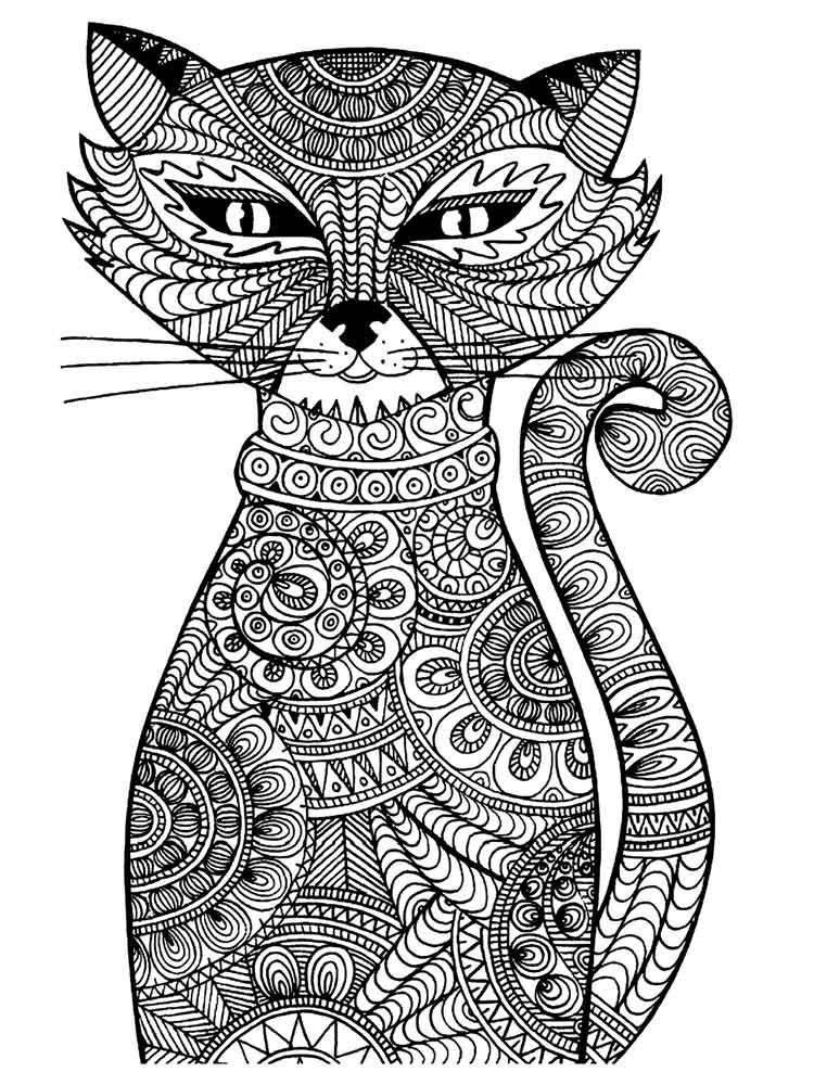 коты с узорами картинки матрешек