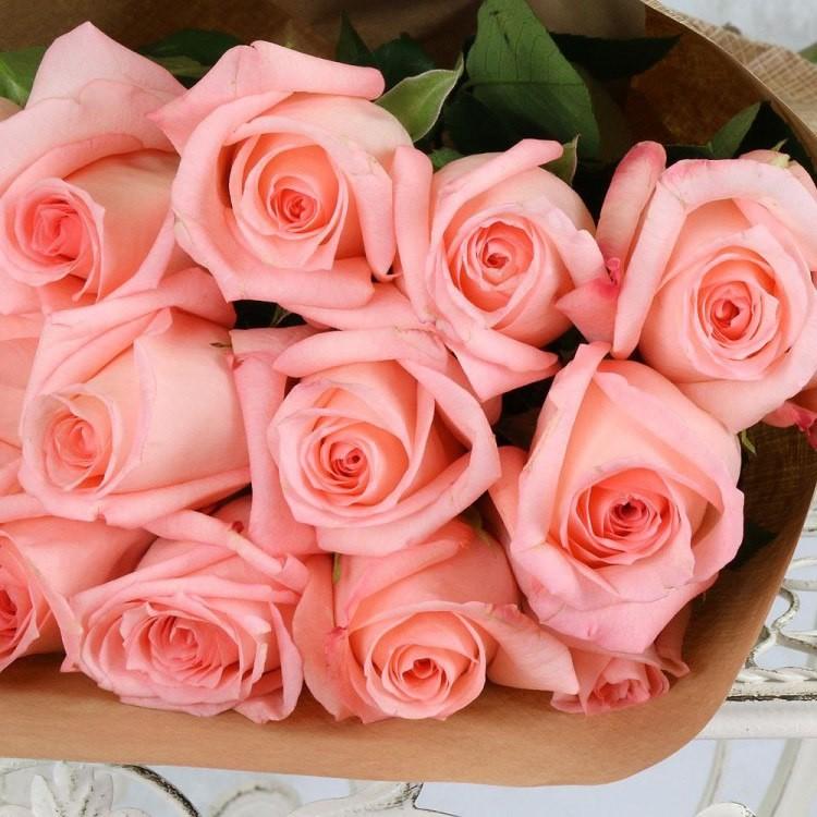 Нежный букет роз фото