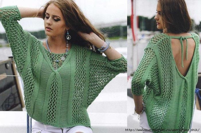95491b62f6b ажурные джемпера и пуловеры спицами - Самое интересное в блогах ...