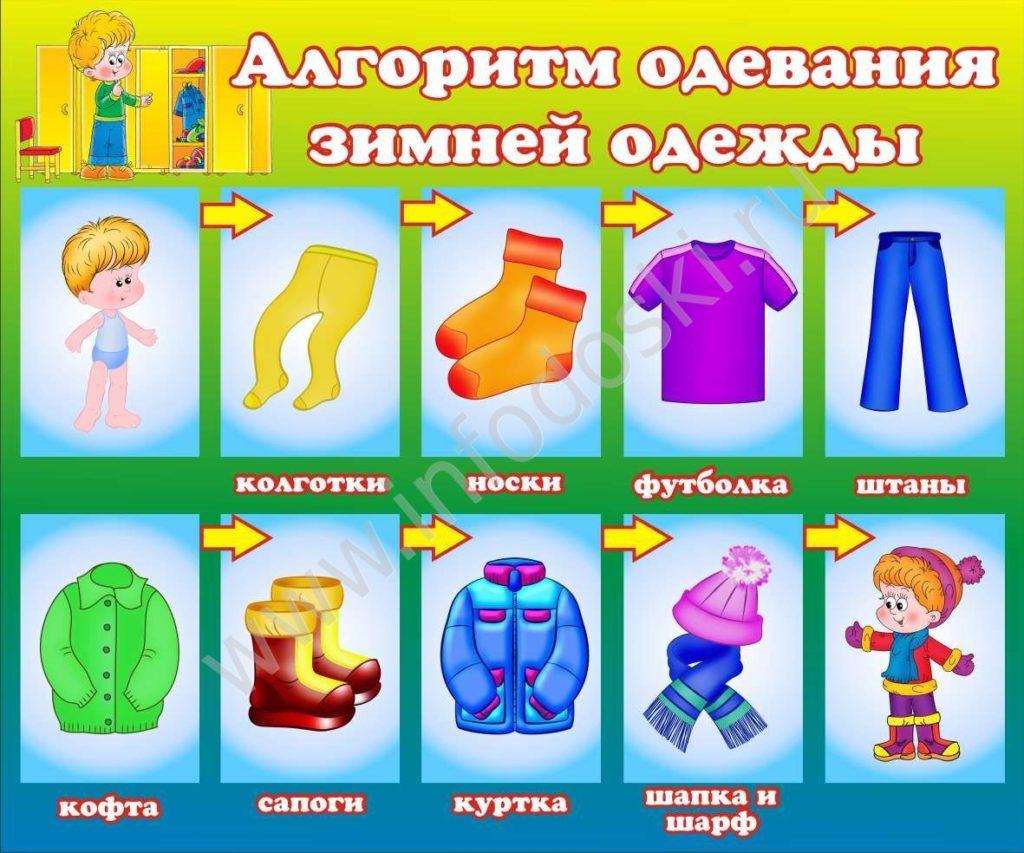 Картинки схема одевание детей