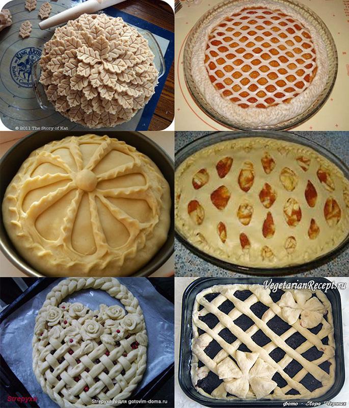 как украсить сдобный пирог фото пошагово делать