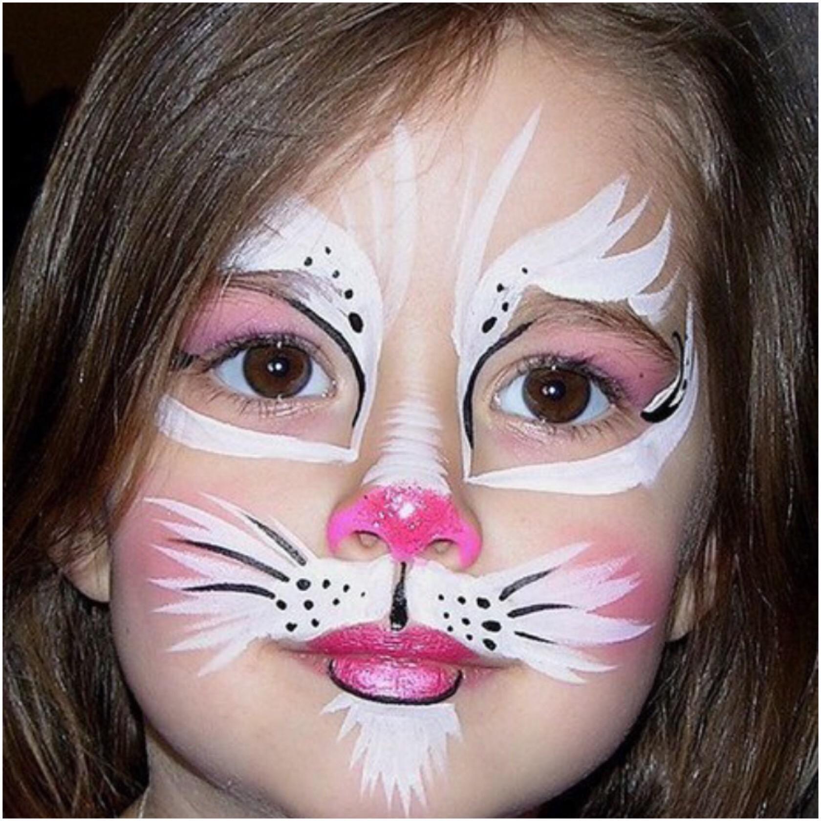 картинки как разукрасить лицо кошки куски