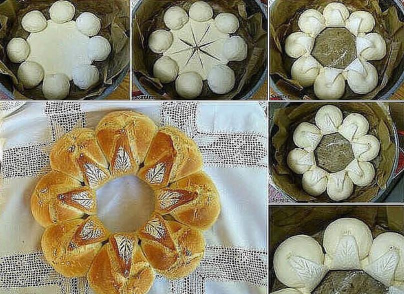 Формирование пирогов из дрожжевого теста фото