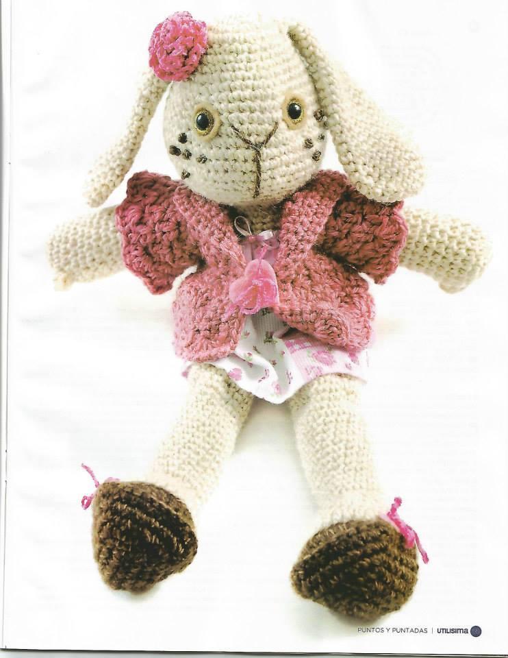 Coneja coqueta - Patrones gratis Linda muñeca tejida en la técnica ...