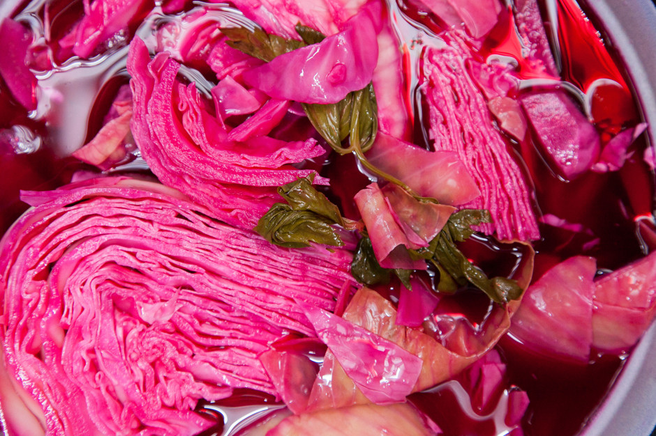 Розовая капуста рецепт с фото