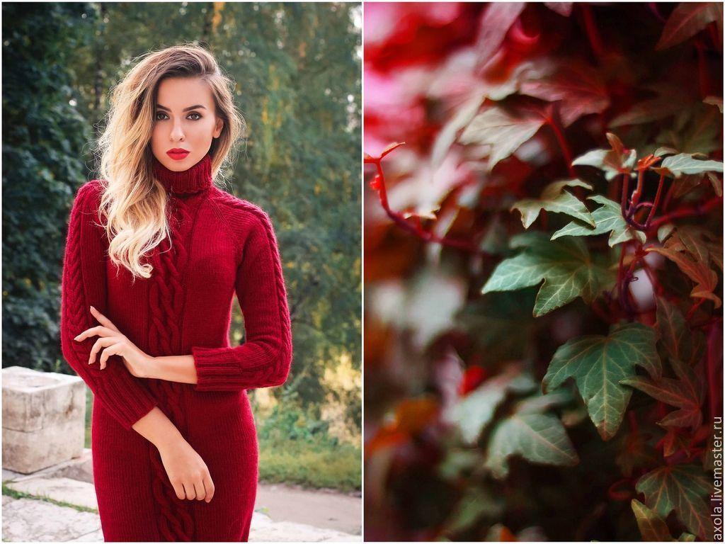 2c38ed3ca5c Платье  Бордо  – купить в интернет-магазине на Ярмарке Мастеров с ...