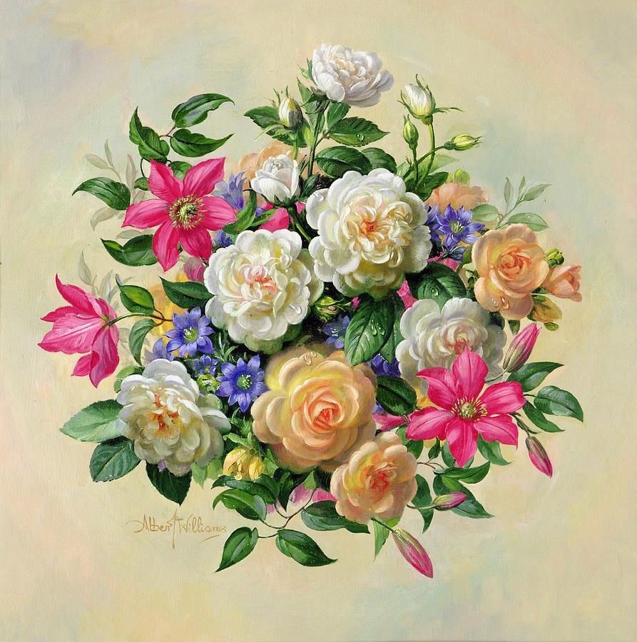 Картинки цветы красивые букеты декупаж