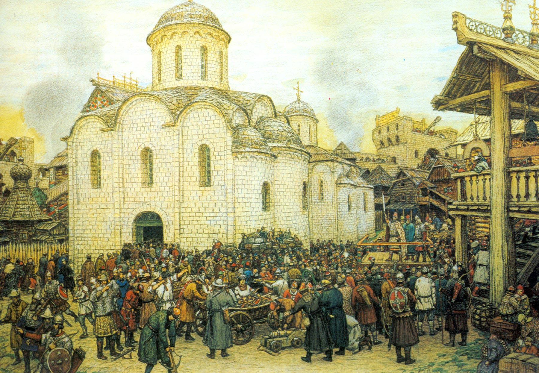 Картинки 17 века в россии, открытка