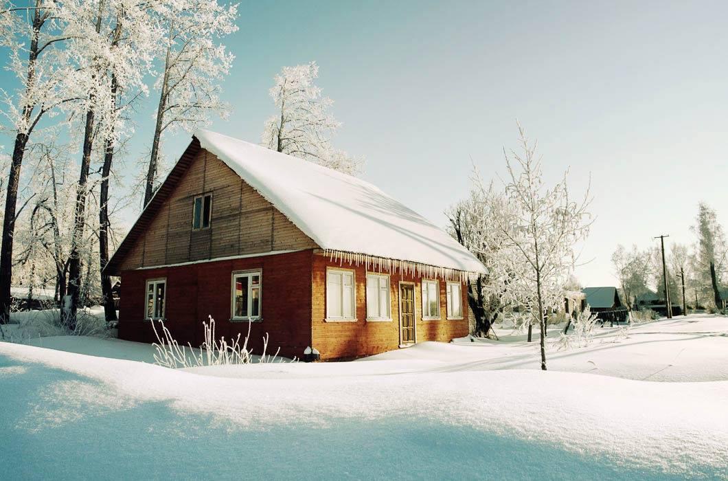 фото зимних деревенских домов россии псырцха
