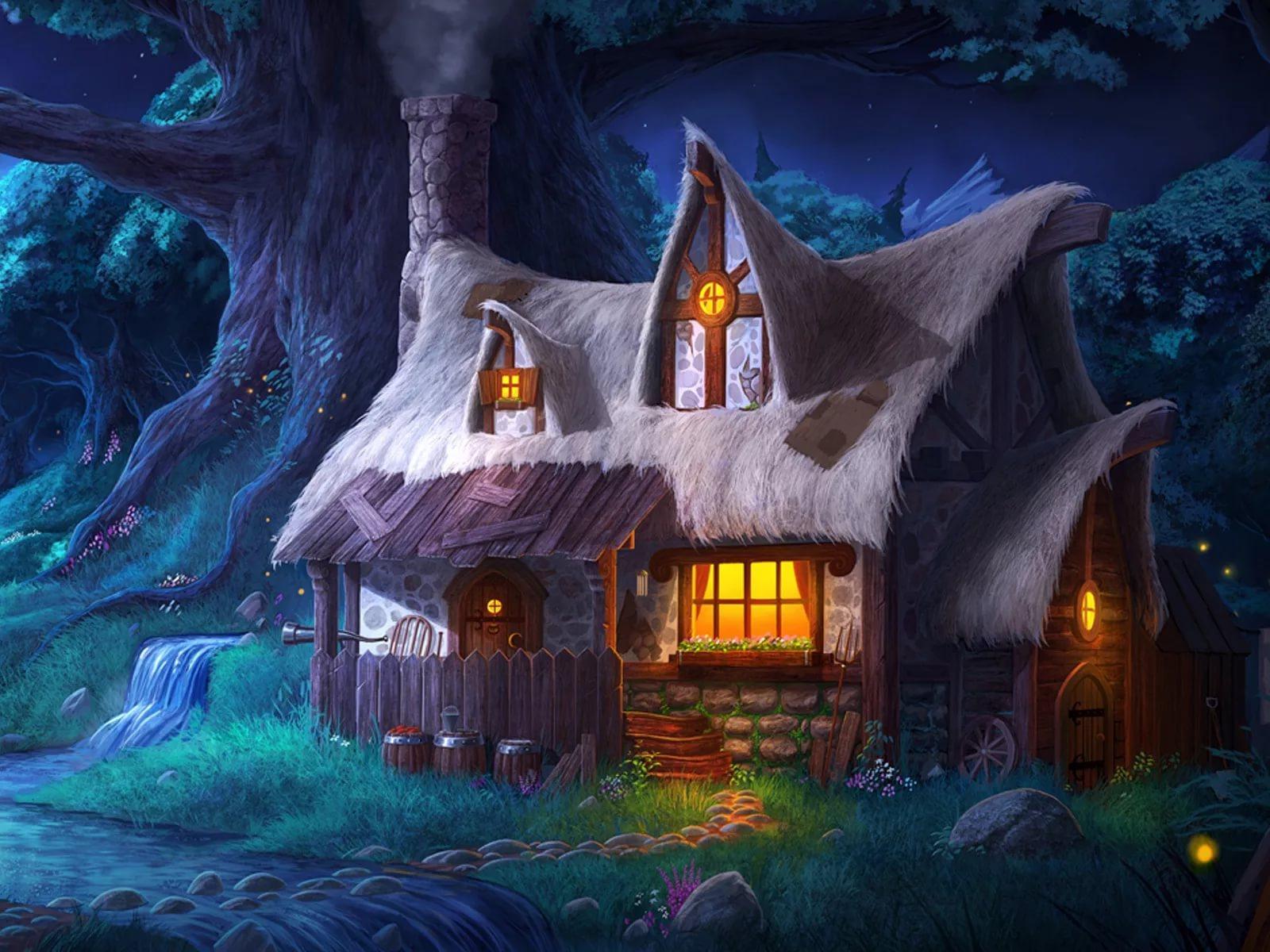 утро картинки с сказочными домами вот откуда это