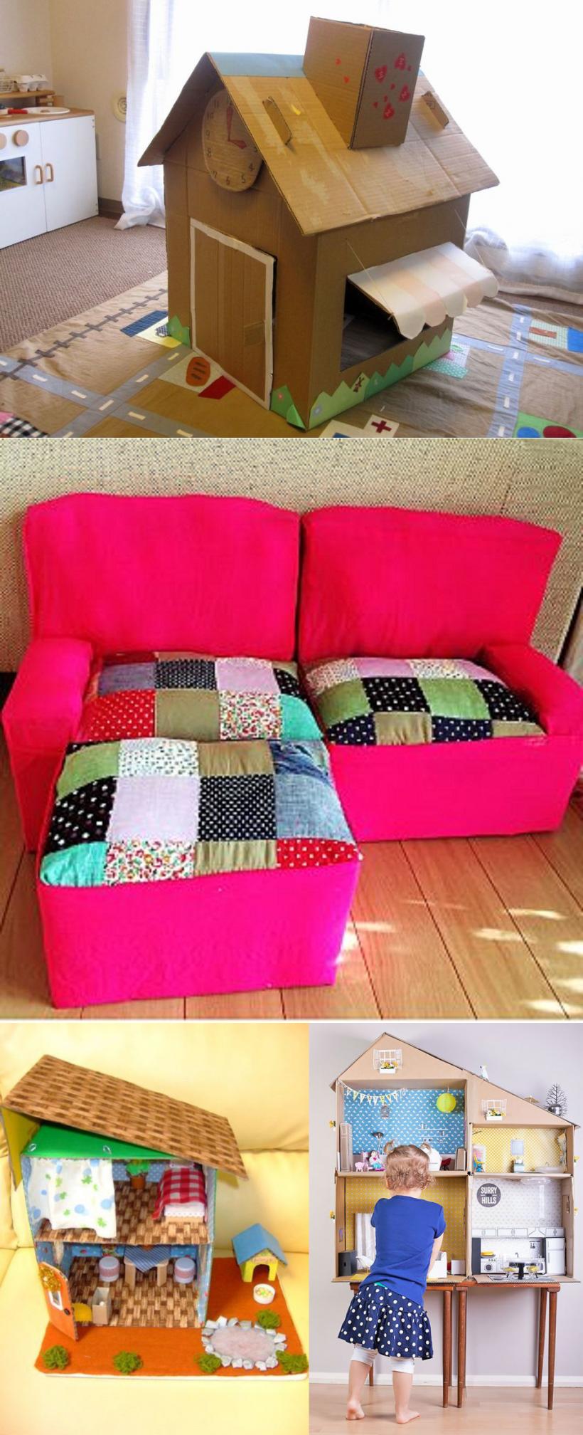 Мебель из коробок своими руками для детей фото 228
