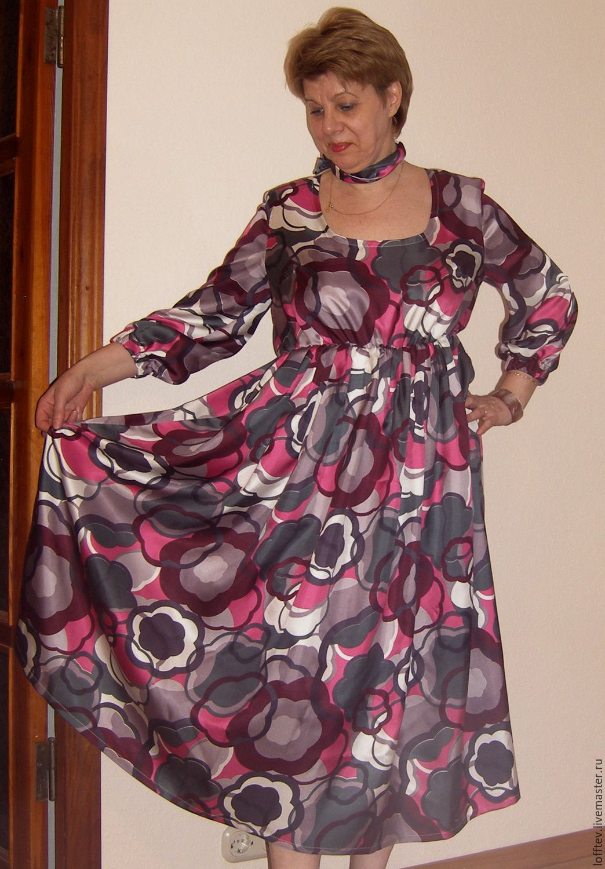 7dd677371b2 Платье шелковое Миди – купить в интернет-магазине на Ярмарке Мастеров с  доставкой Платье шелковое · zoom in