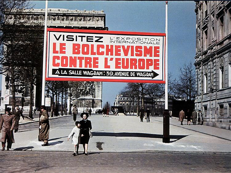 Париж в оккупации 1941-44г. Эти фото поразили многих