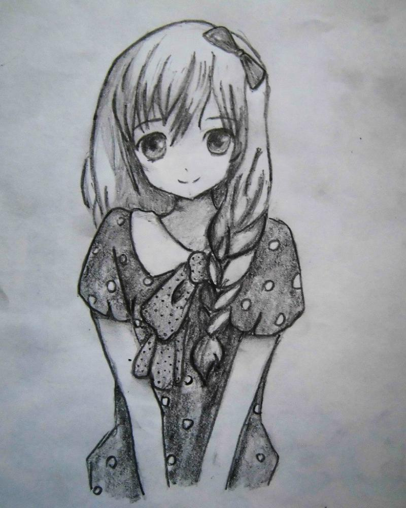 Рисунки девчат аниме