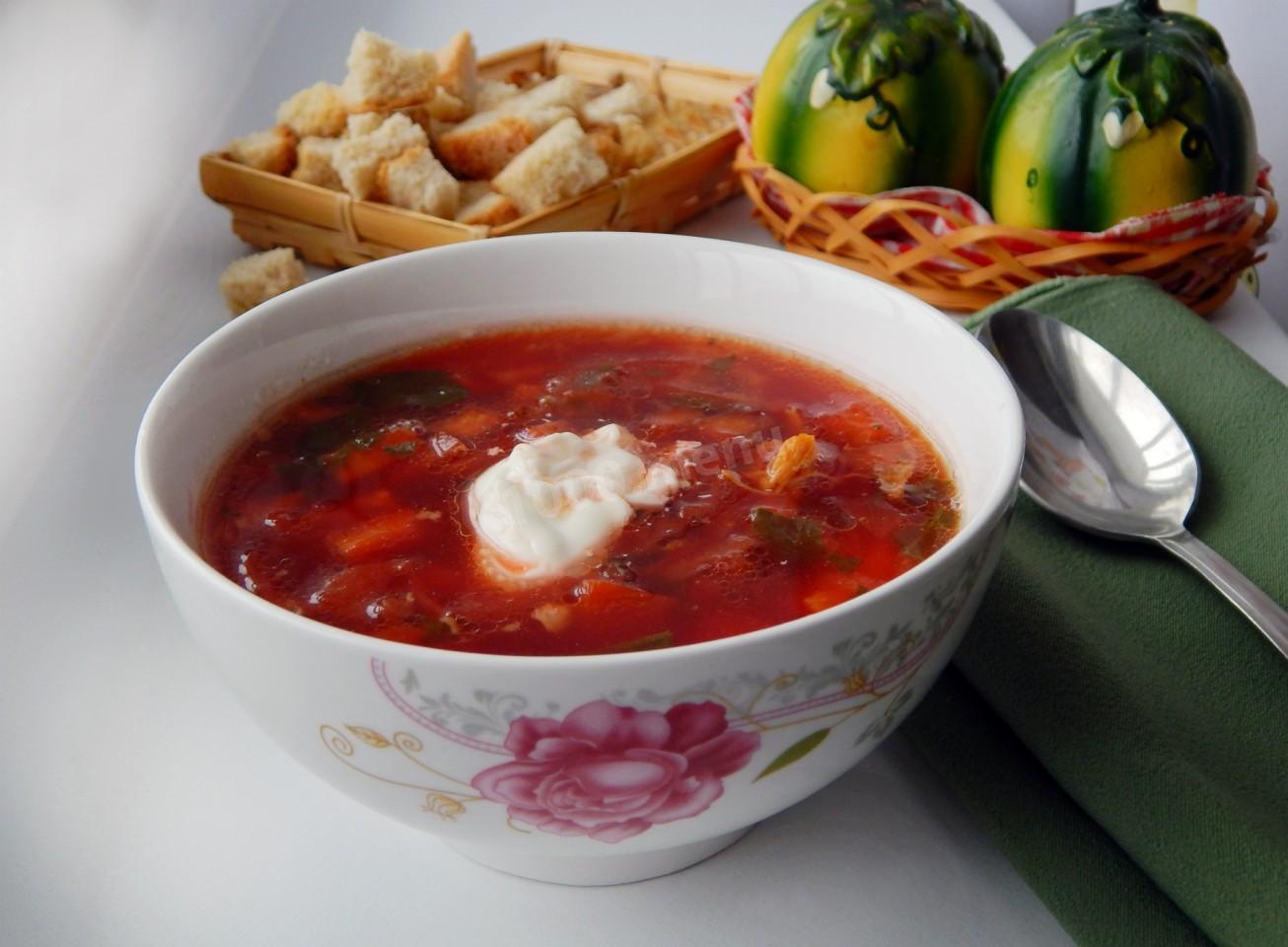 Суп свекольник рецепт пошаговый с фото