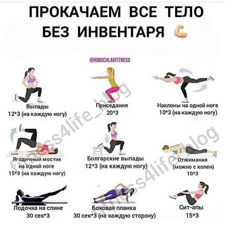 Комплексное упражнения для похудения для всего тела
