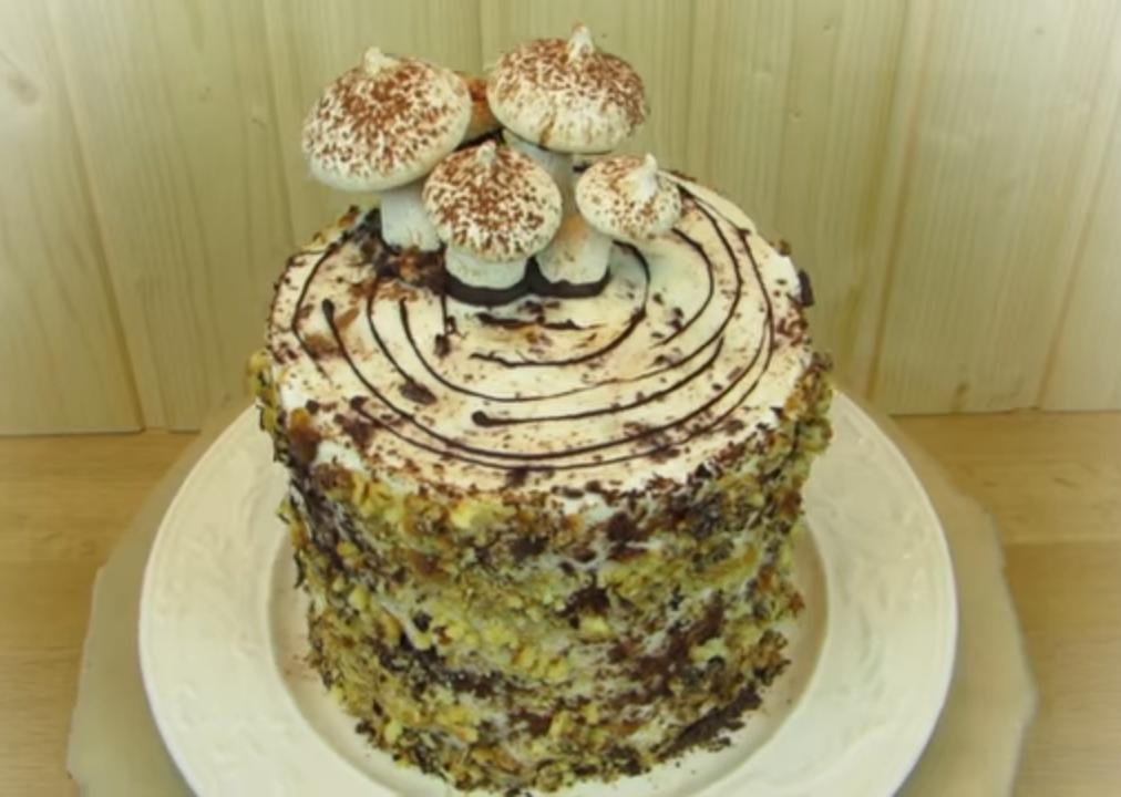 рецепт торта трухлявый пень пошаговый с фото праздник олимпийский