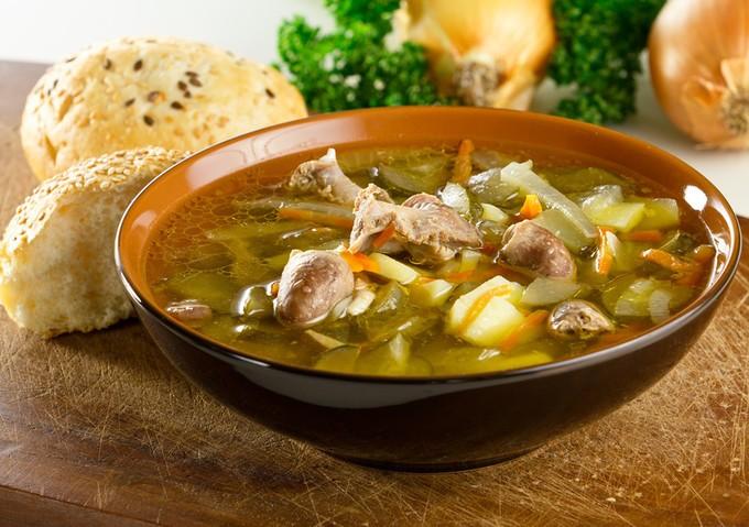 рецепт приготовления супа с куриными сердечками