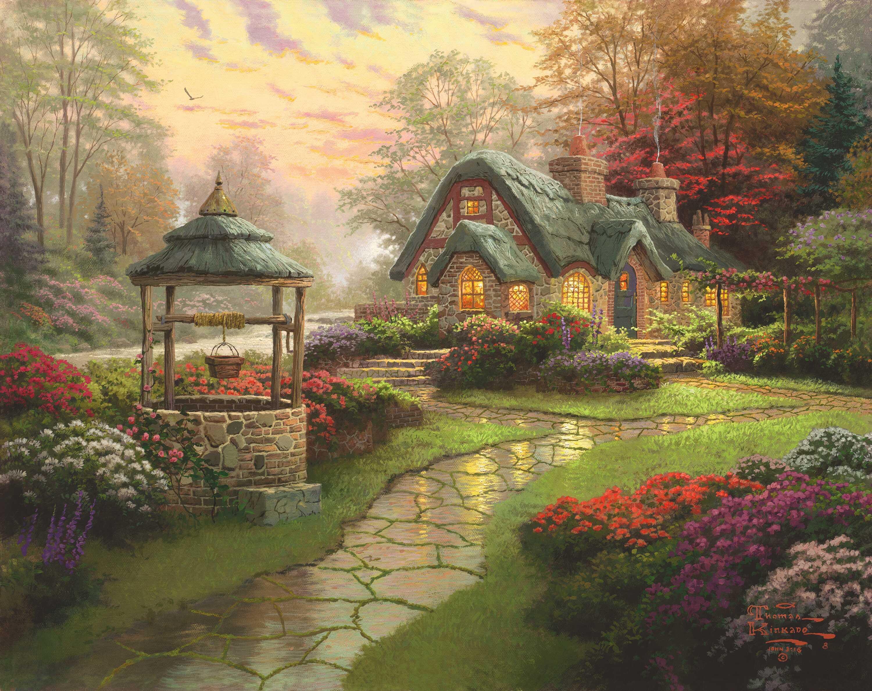 саму картинки с сказочными домами давних