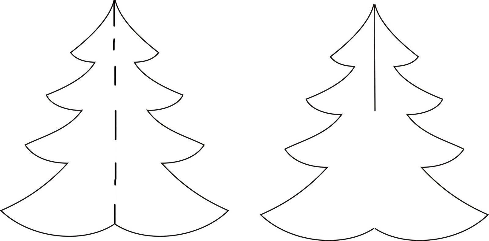 Шаблоны елки, открытка