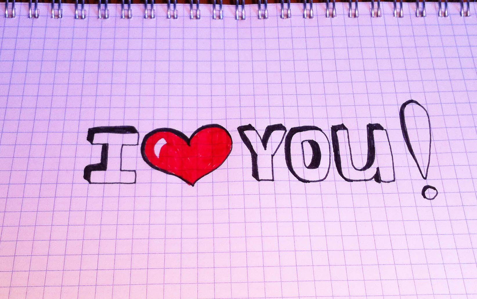 Красивые рисунки с надписями карандашом