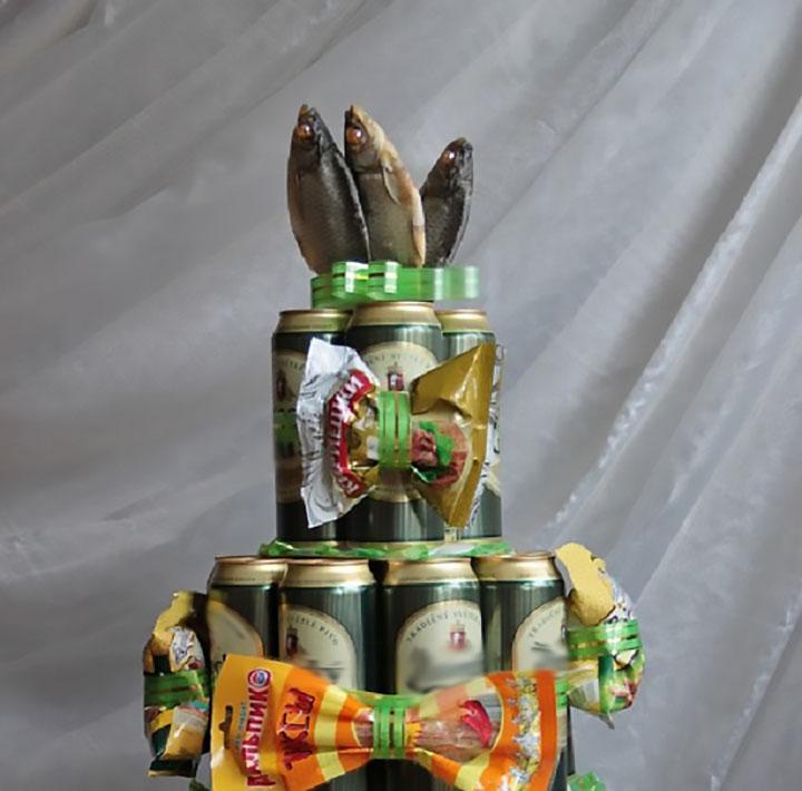 подарок из банок пива своими руками фото врач опытный