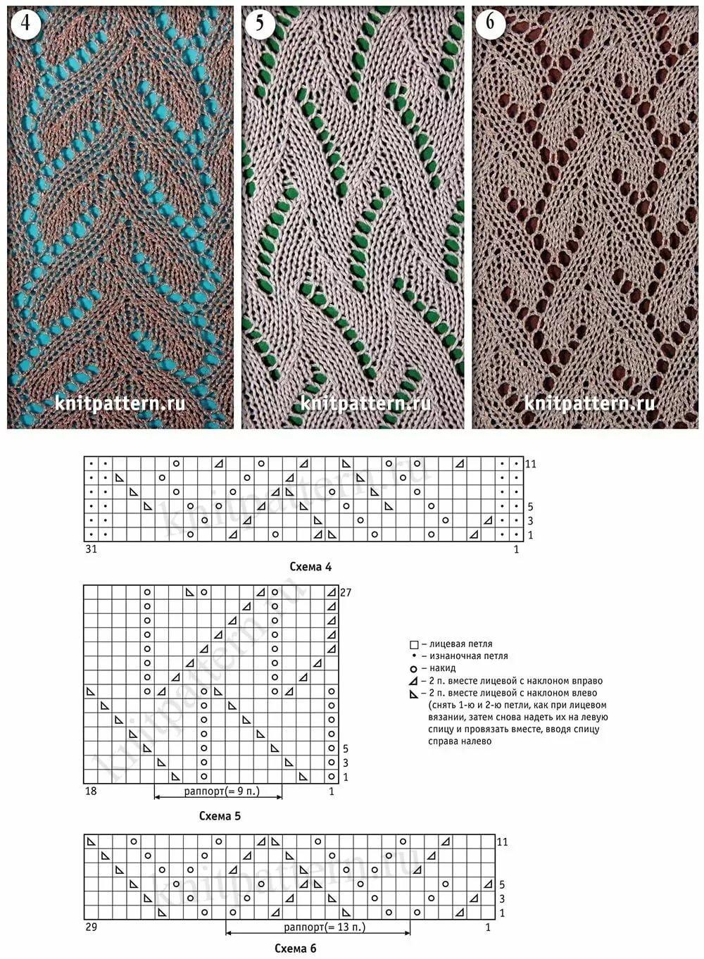 Рисунки связанные спицами схемы и описание