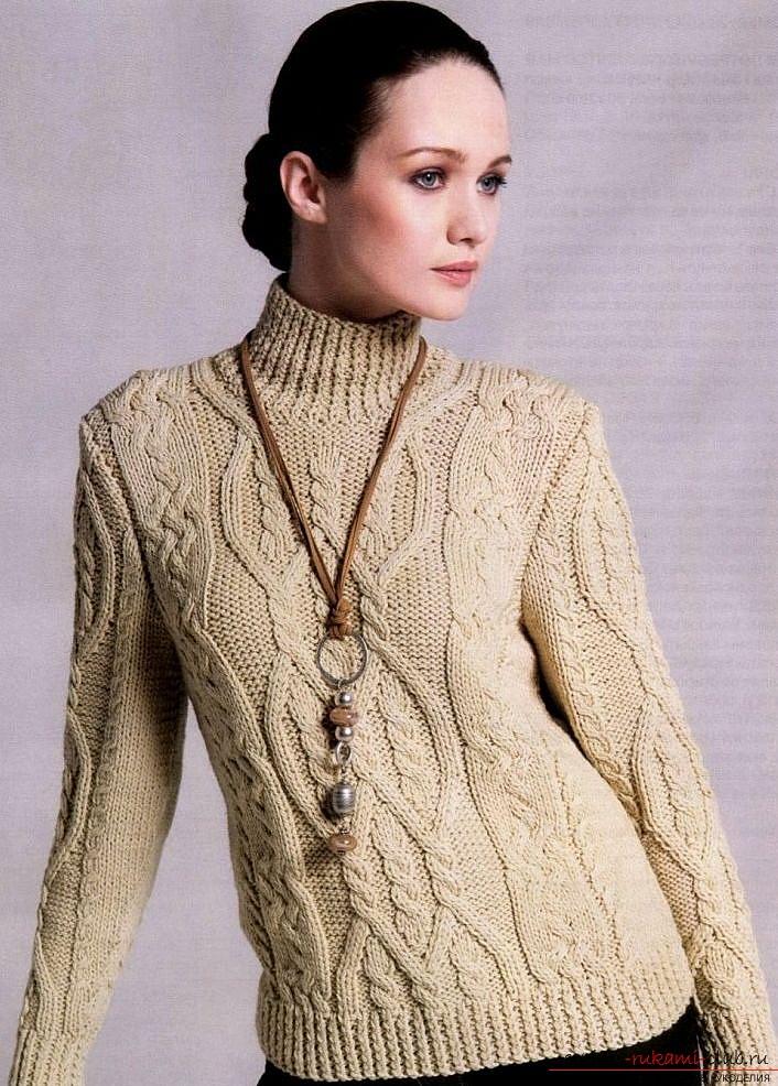 Схема свитера с горлом спицами фото 944