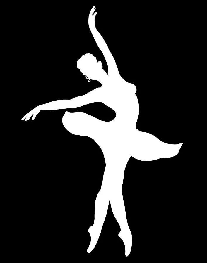 Картинки балерина шаблоны