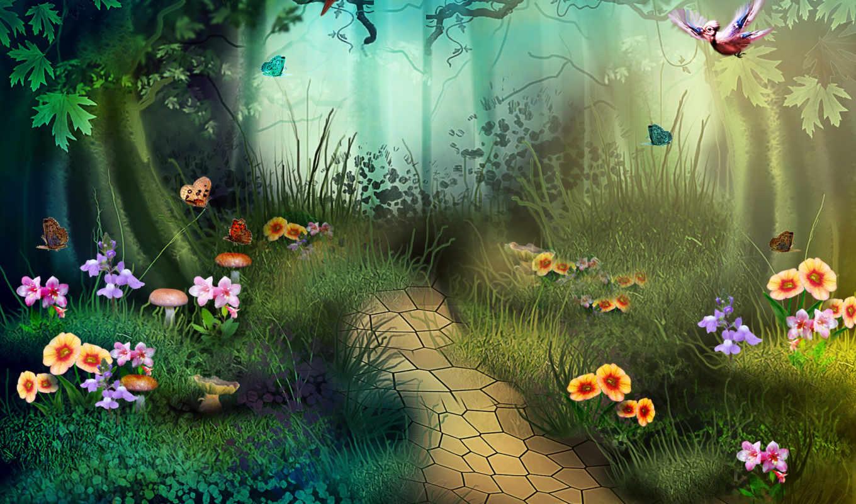 Ооо мир, фон для анимации лес