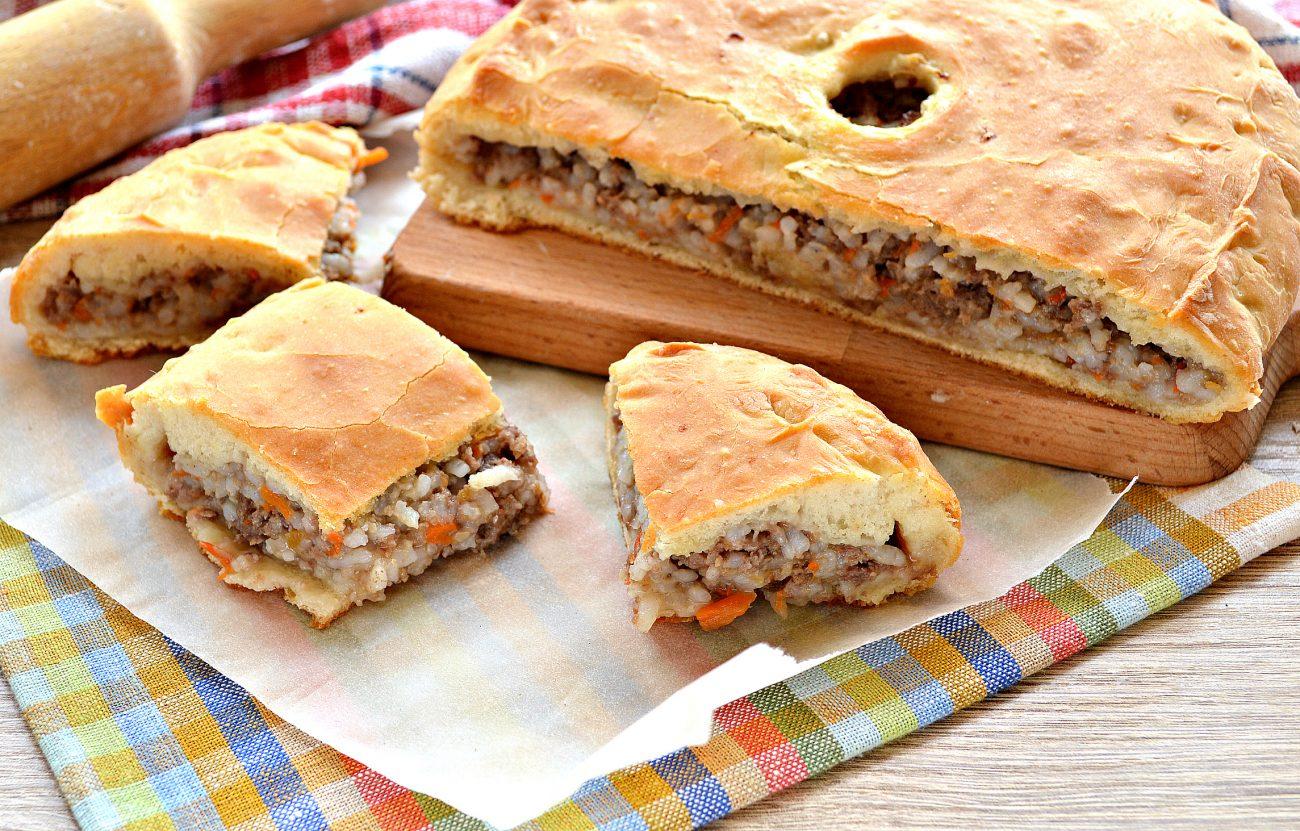 Тесто для мясного пирога рецепт с фото