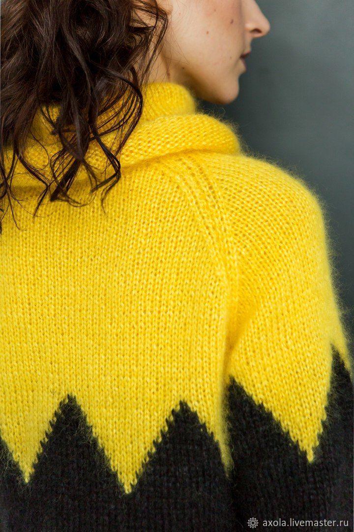 кофты и свитера ручной работы свитер два цвета творческая