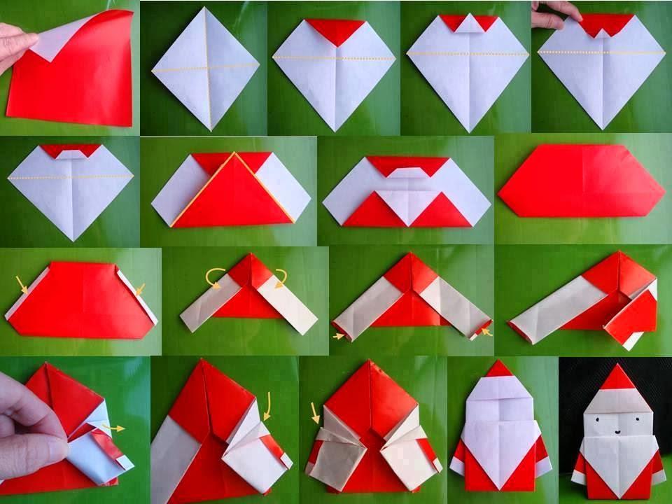 Дед мороз оригами схема из бумаги фото 523