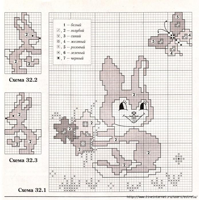 Вязаные детские рисунки спицами со схемами