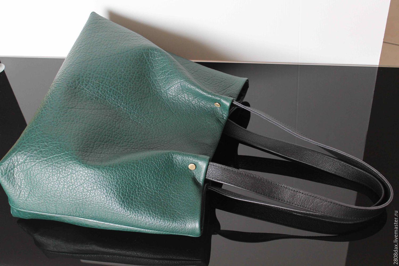 fe80dbd697d0 Купить Хвоя, темно-зеленая сумка, кожаная сумка, большой шоппер ...