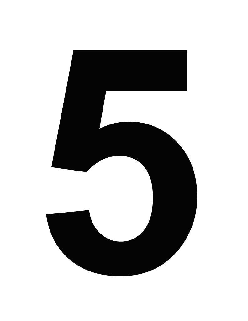 Картинка пять цифра