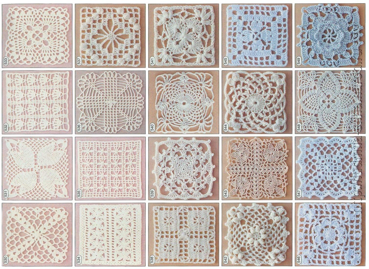 Квадратный мотив с цветком крючком схема фото 102