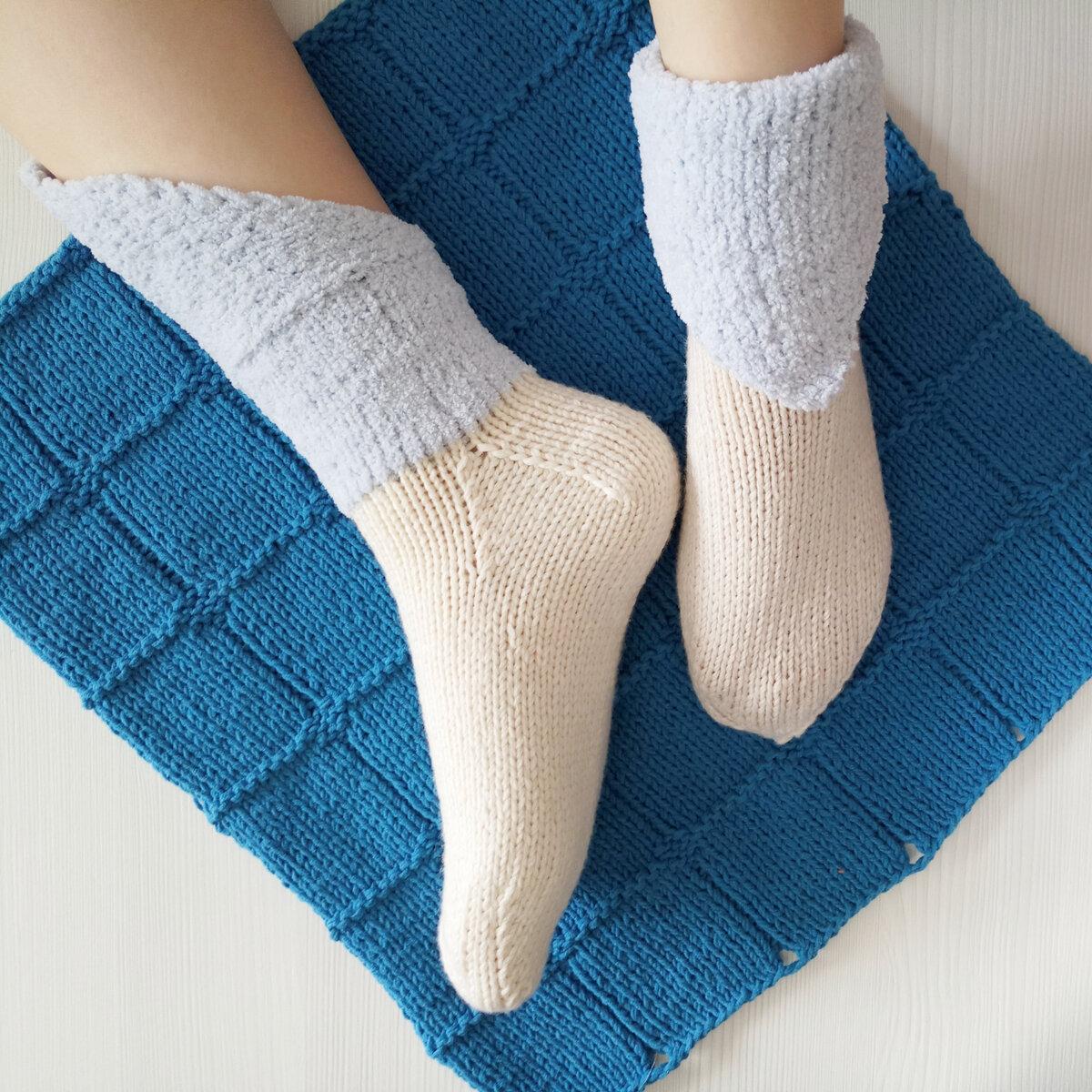 Носки спицами без пятки фото
