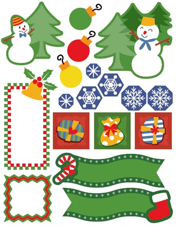 Украшение для новогодней открытки распечатать