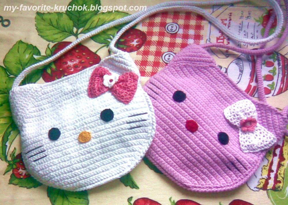 Вязание для девочек сумки 43