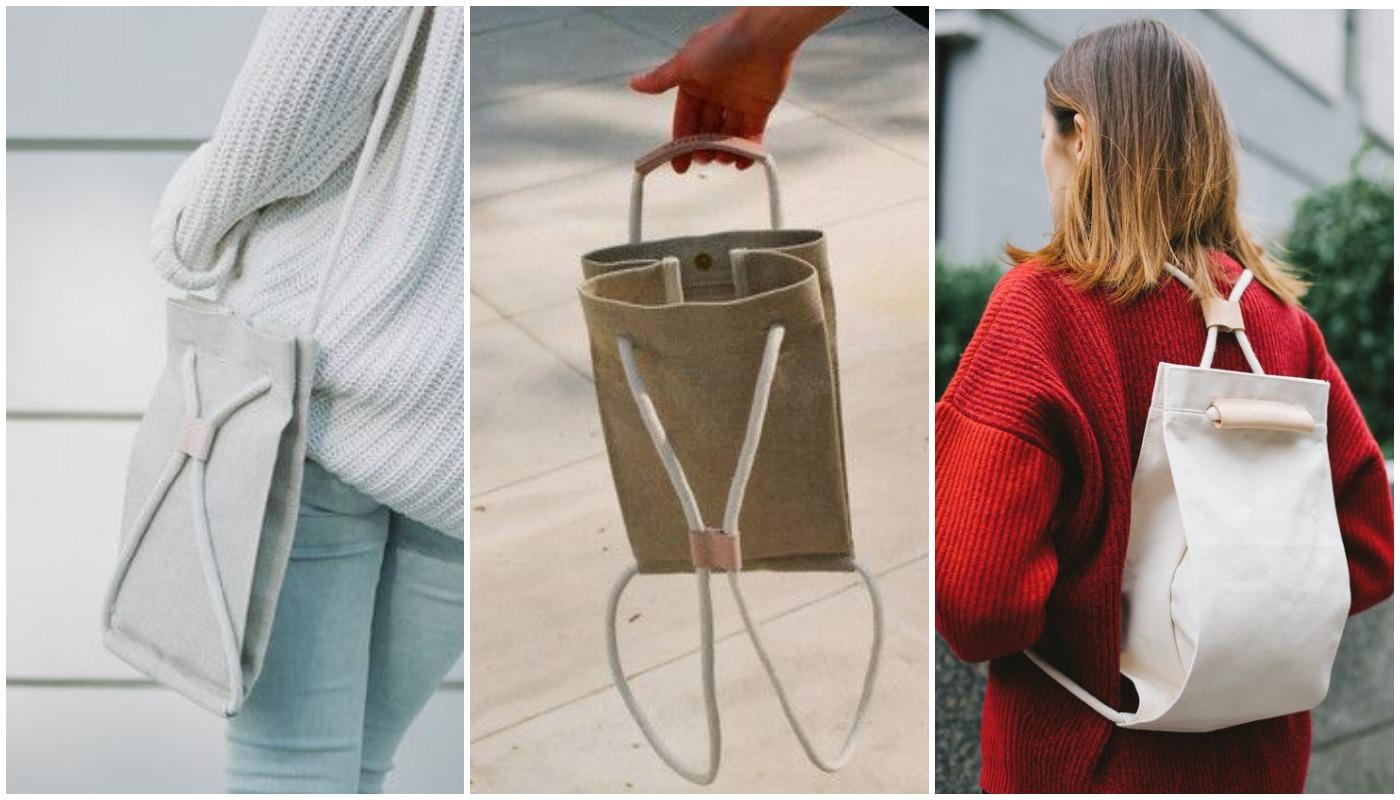 a55d31c3bbbe Выкройка сумки-рюкзака | Шить просто — Выкройки-Легко.рф | Накидка ...