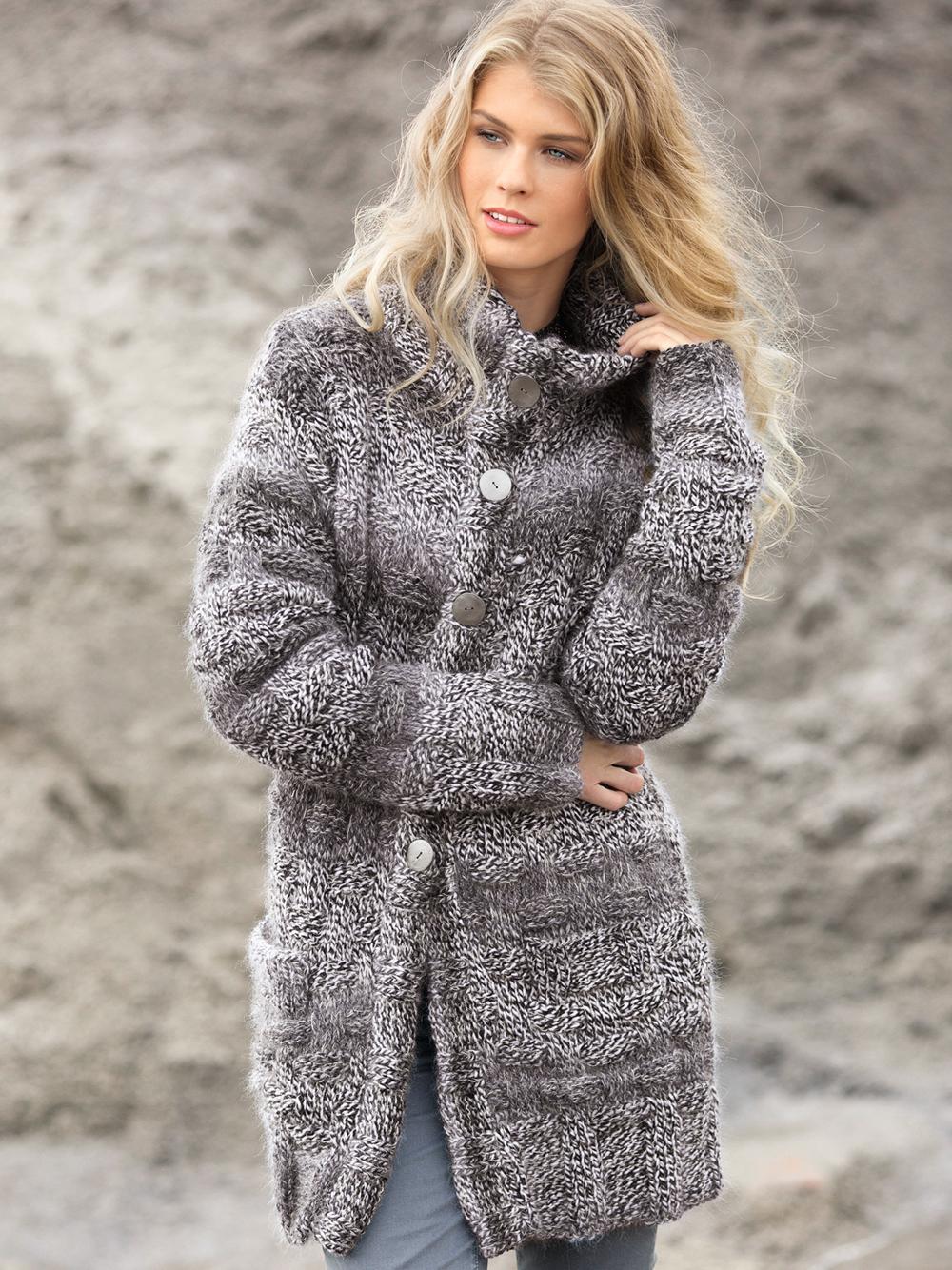 Вязание картинки пальто