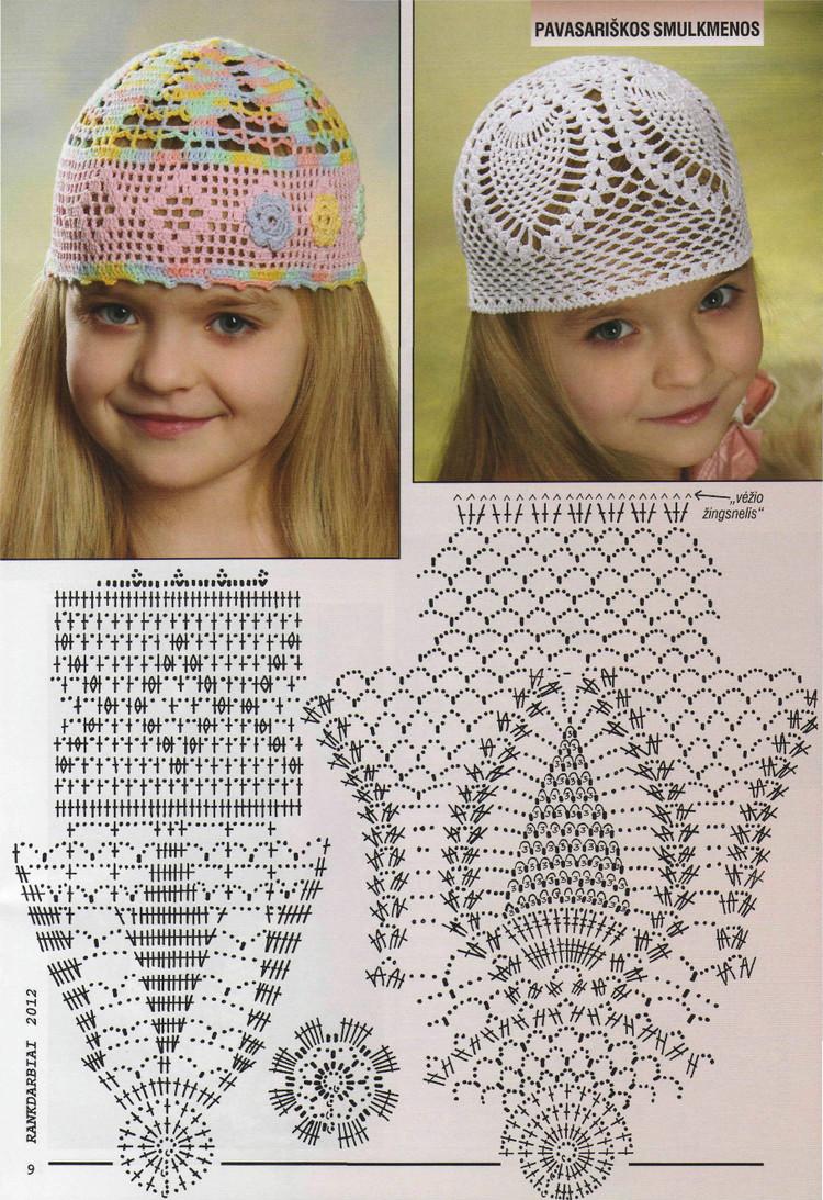 Схема шапочки девочки лета