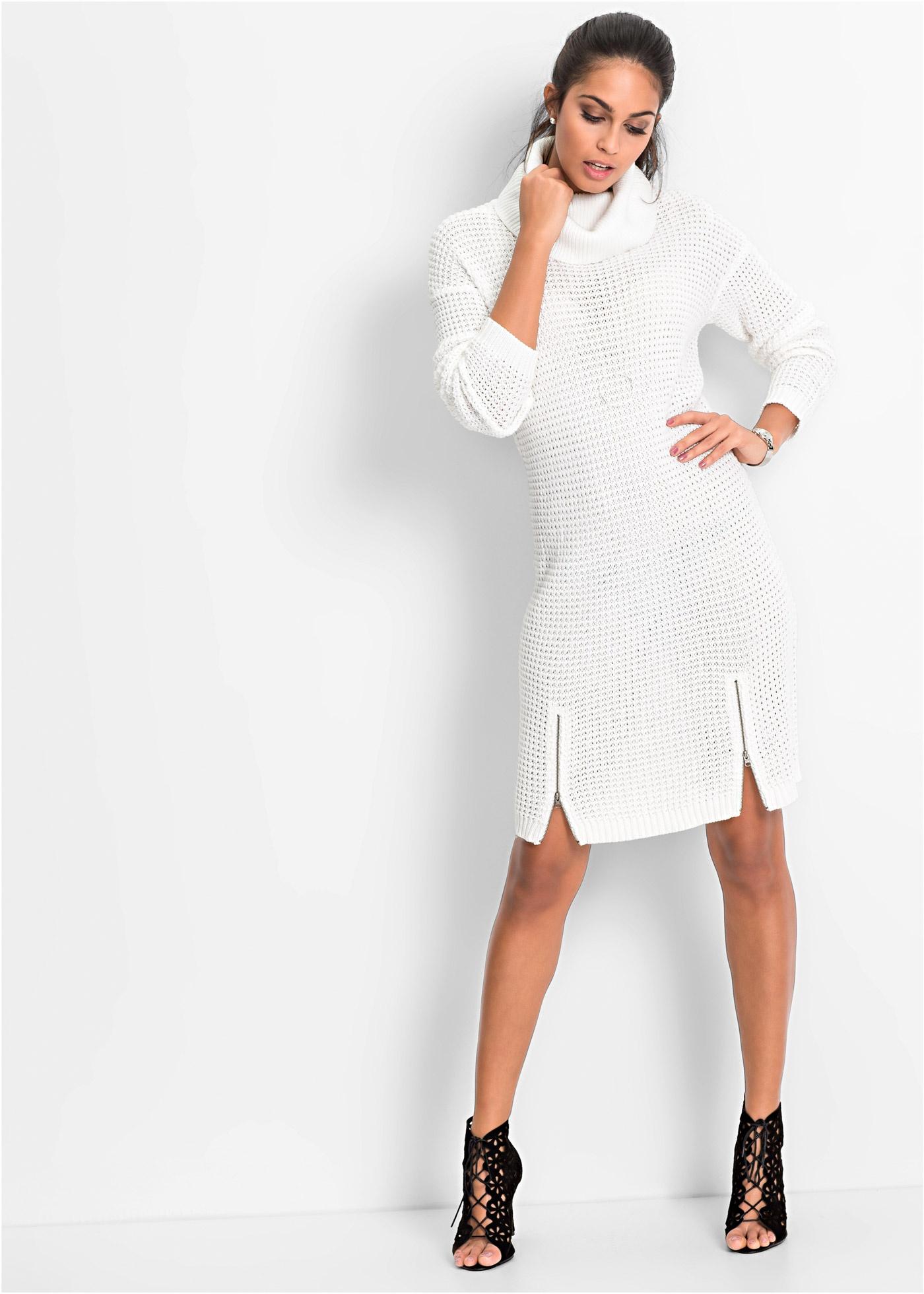 93684f17b9c Вязаное платье цвет белой шерсти - BODYFLIRT заказать онлайн ...
