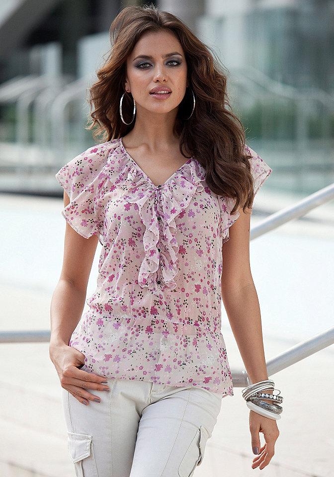 Женские блузы из шифона фото