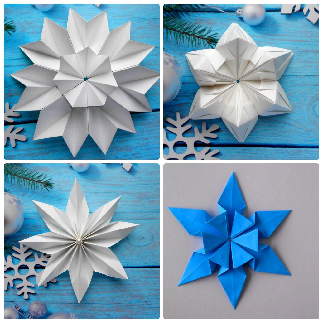 Как сделать снежинки оригами на новый год фото 284