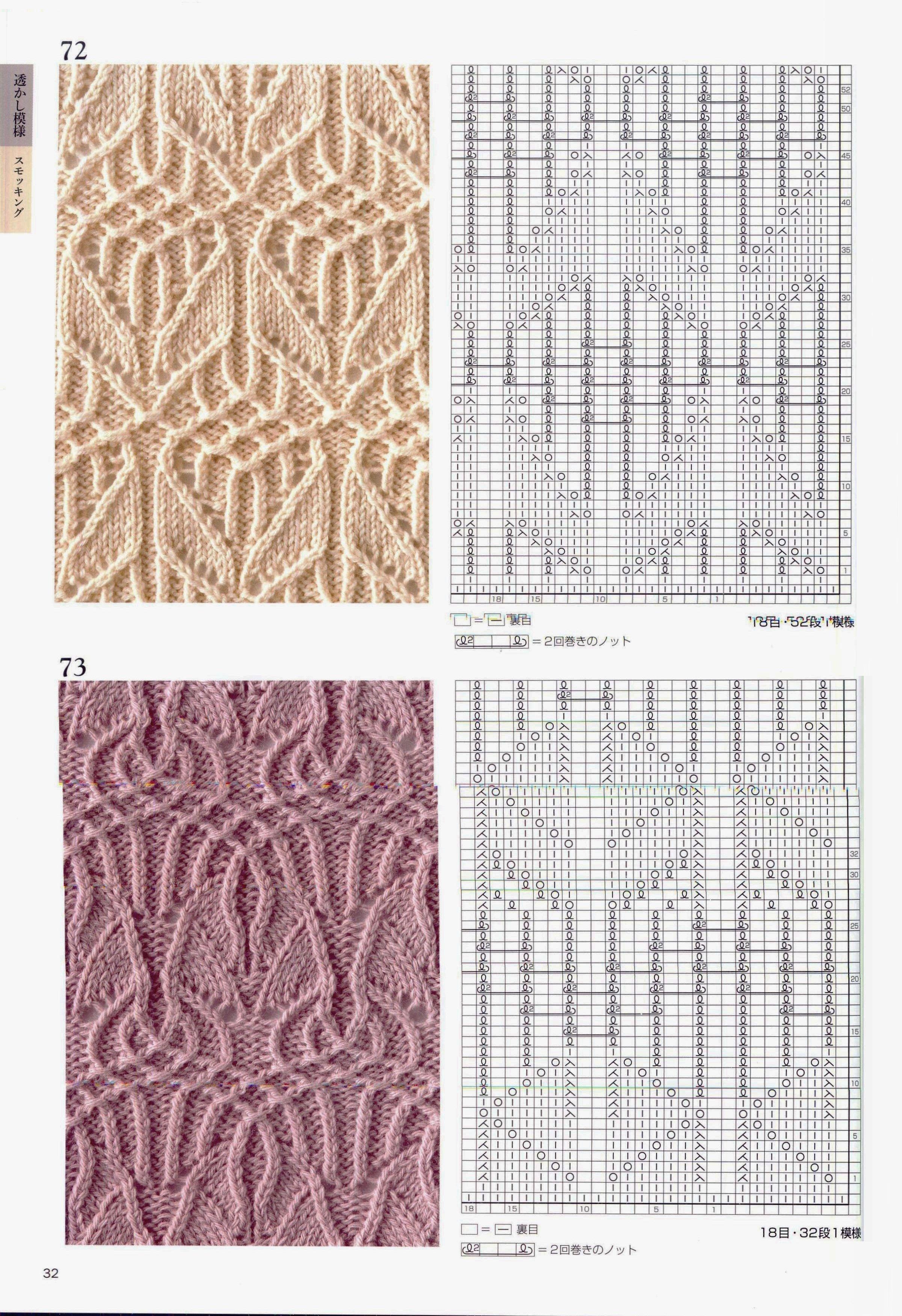 Ажурные вязки для вязание спицами