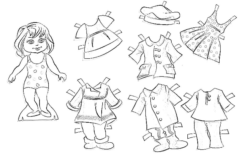 Модели одежды для детей картинки с пояснением распечатать